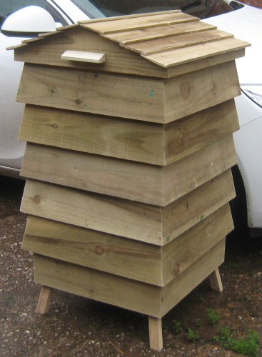 Raised Beehive Composter